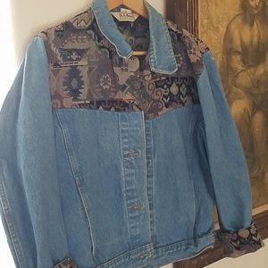 Vintage LL Bean Blue Jean Jacket Sz S